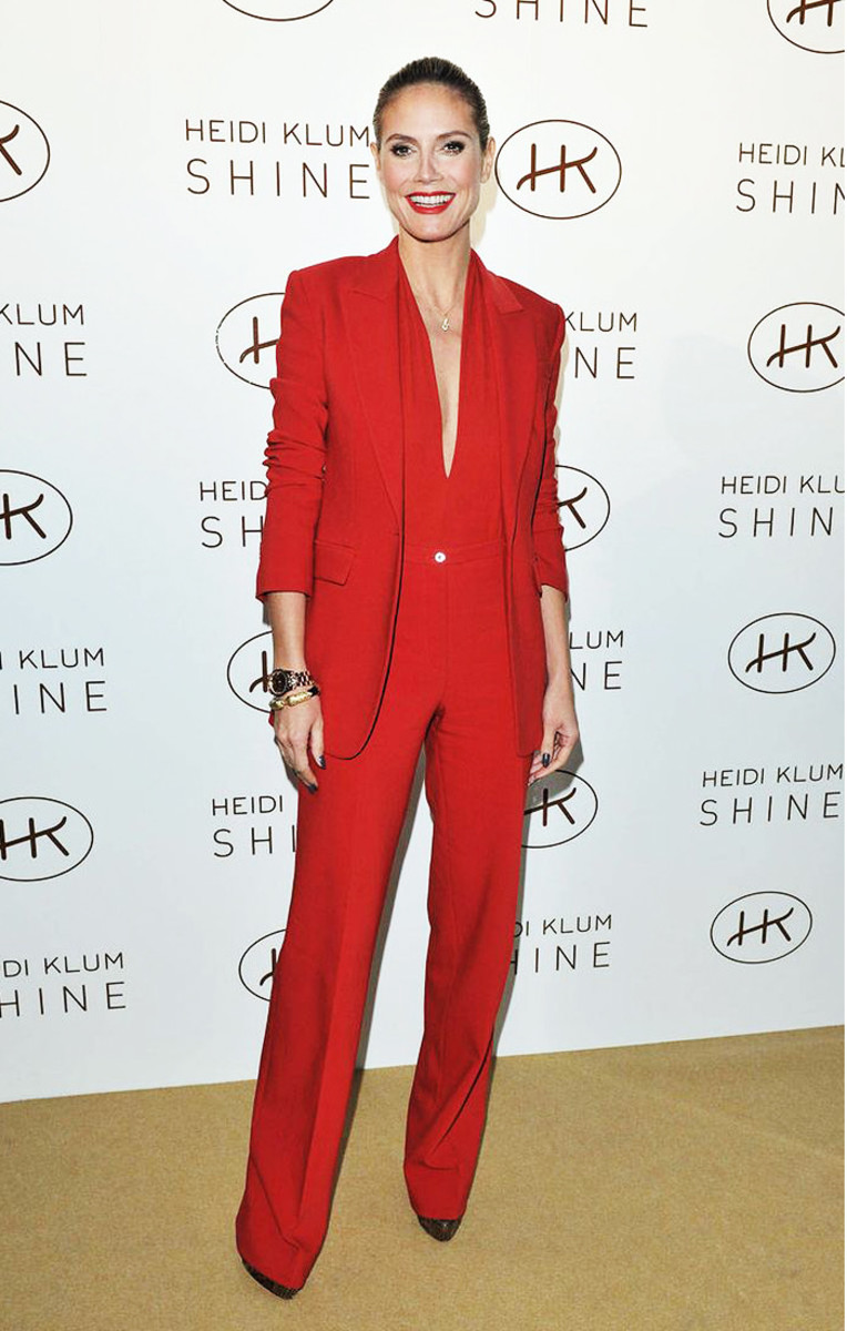 Heidi Klum in red Michael Kors; photo by George Pimentel