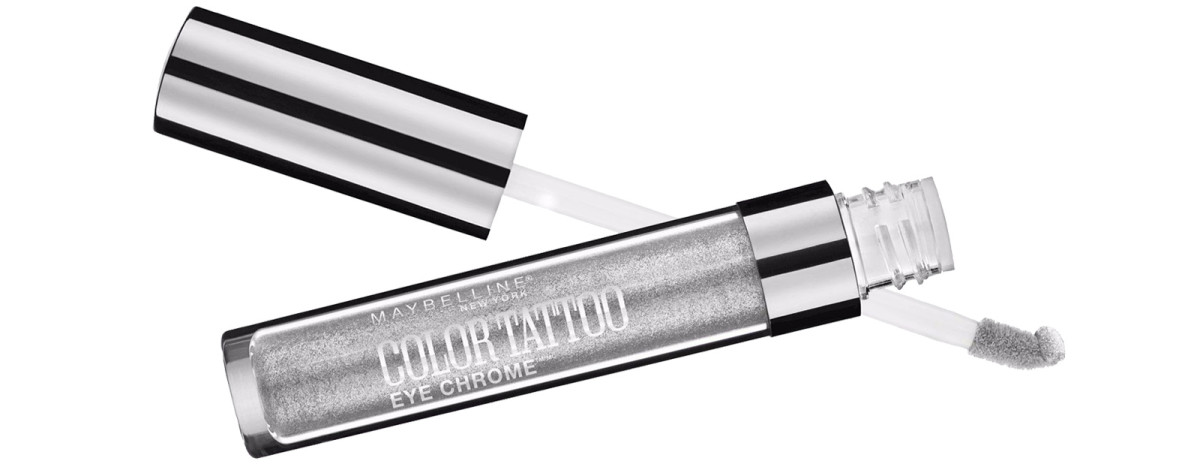Maybelline Color Tattoo Eye Chrome in Silver Spark