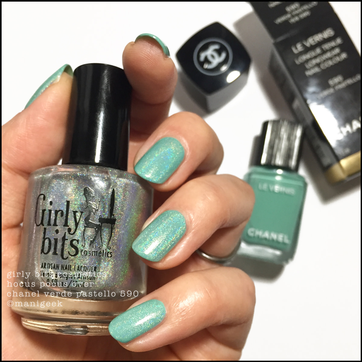 Girly Bits Hocus Pocus over Chanel Verde Pastello 590