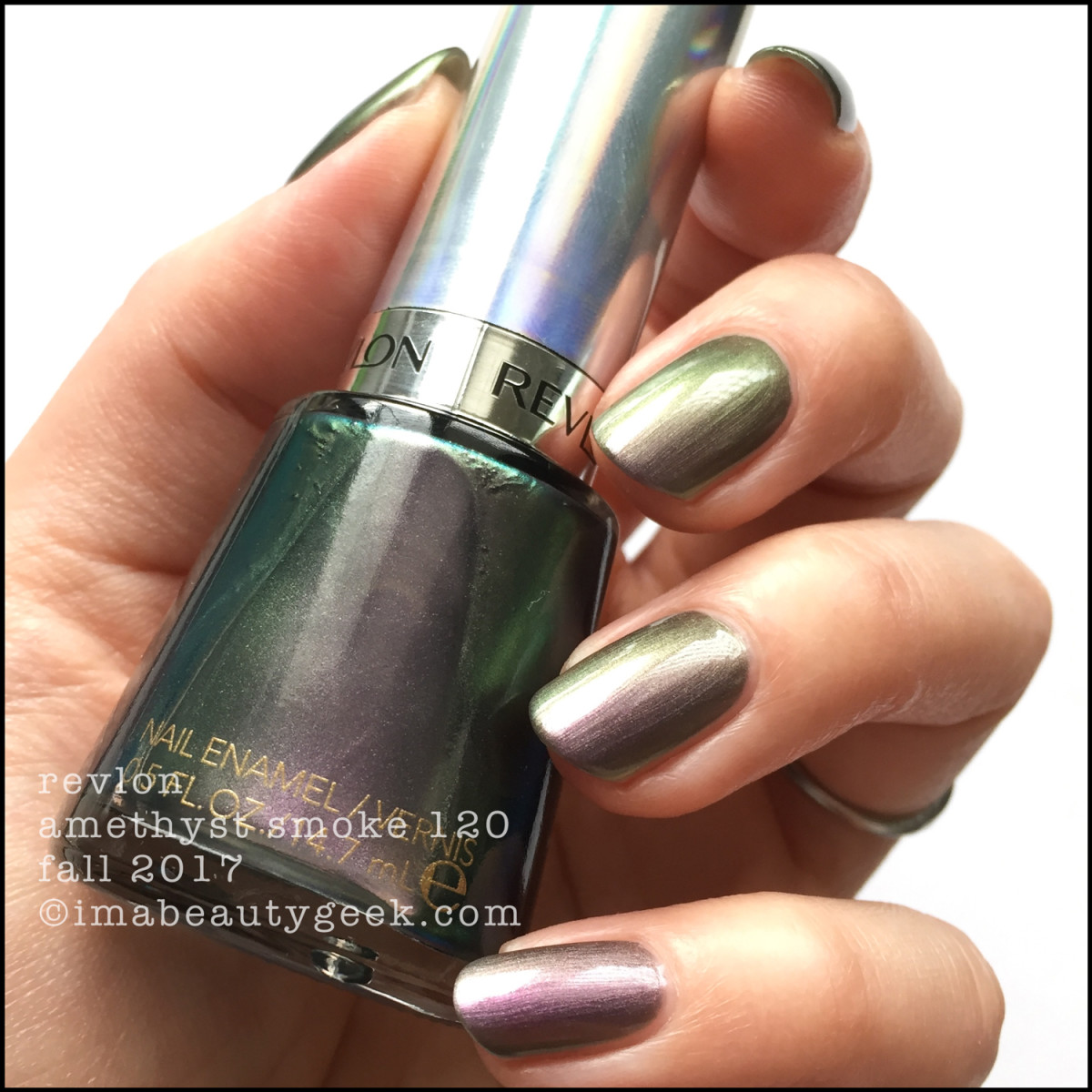 Revlon Amethyst Smoke 120 Holochrome Collection Swatches