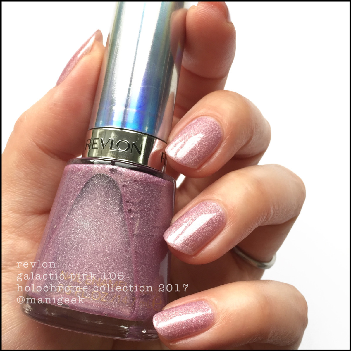 Revlon Galactic Pink 105 Holochrome Collection Swatches
