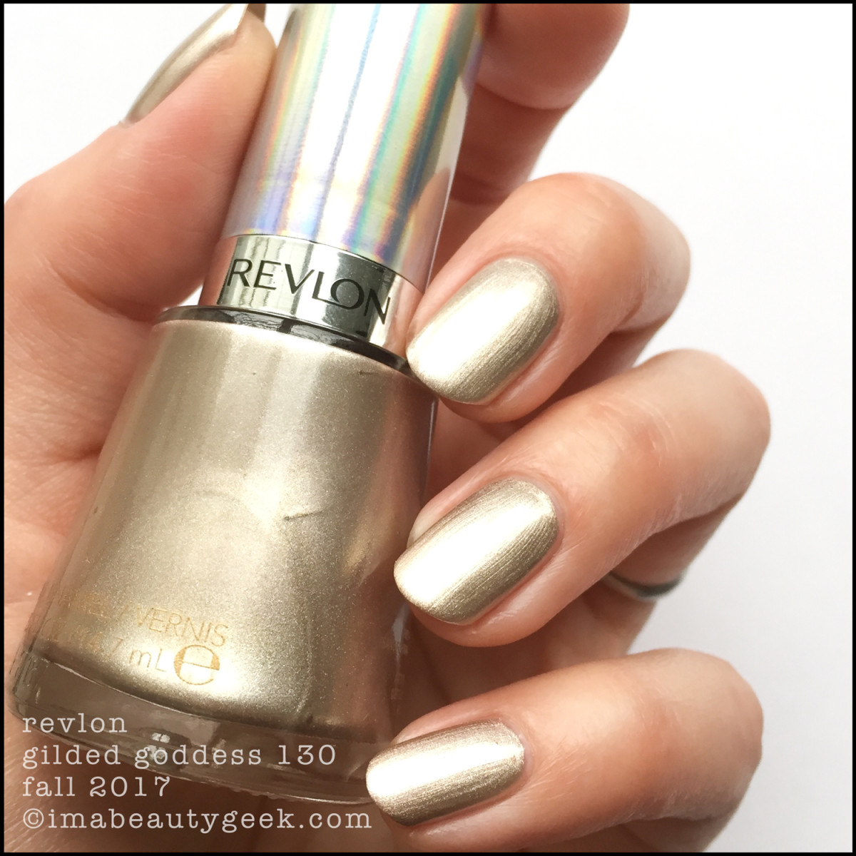 Revlon Gilded Goddess 130 Holochrome Collection Swatches