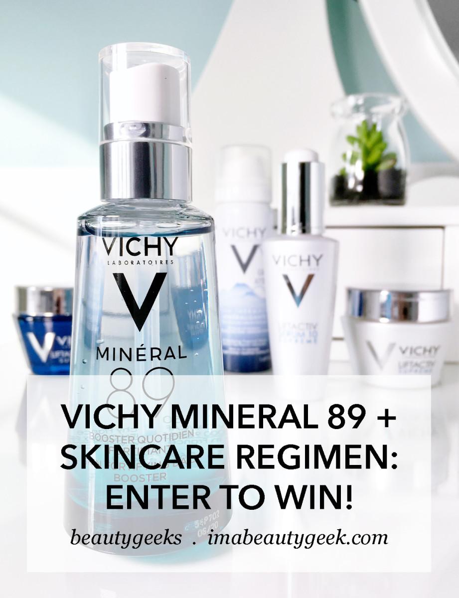 Vichy Mineral 89 booster plus skincare regimen giveaway-BEAUTYGEEKS