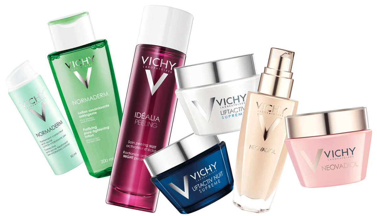 Vichy Normaderm, Idealia, LiftActiv and Neovadiol skincare