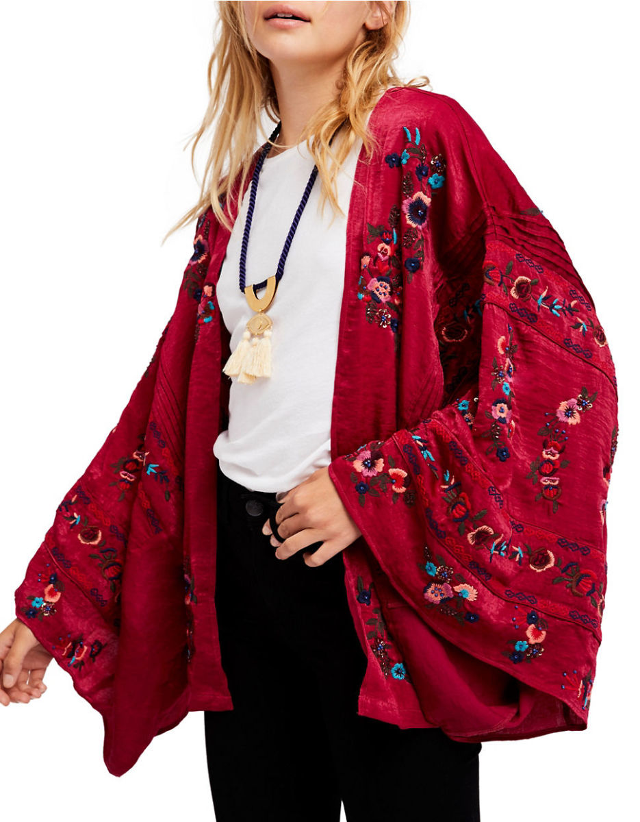 Free People Ariel open-front kimono, $203 at thebay.com