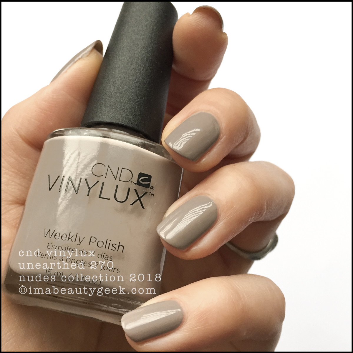CND Vinylux Unearthed 270 - Vinylux Nudes Collection Swatches 2018