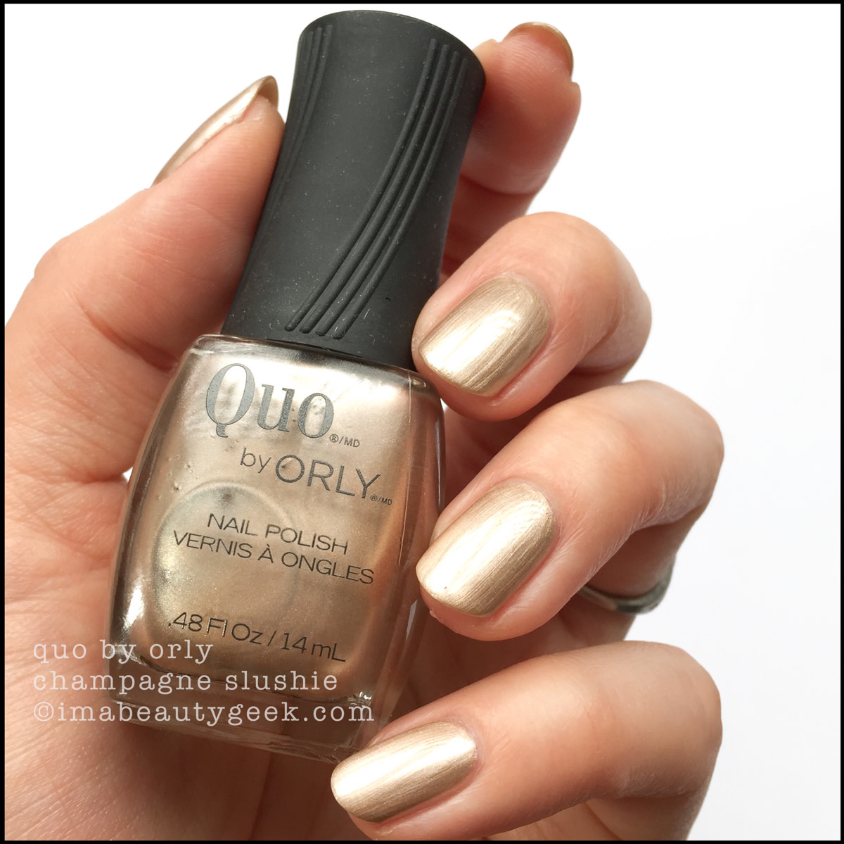 Quo by Orly Champagne Slushie - Orly Darlings of Defiance Collection Swatches