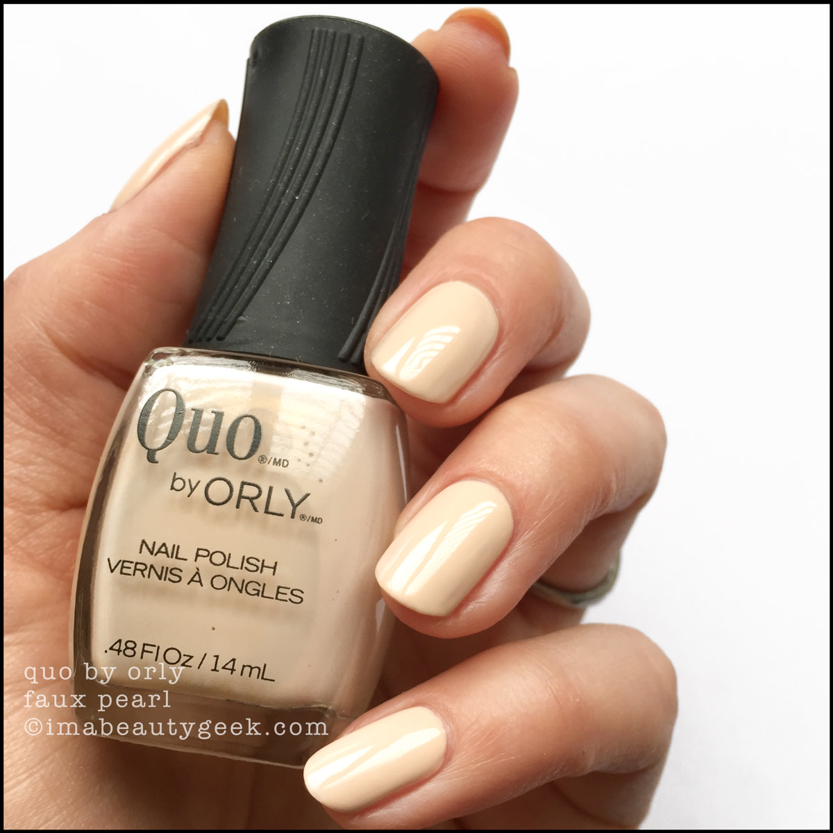 Quo by Orly Faux Pearl - Orly Darlings of Defiance Collection Swatches