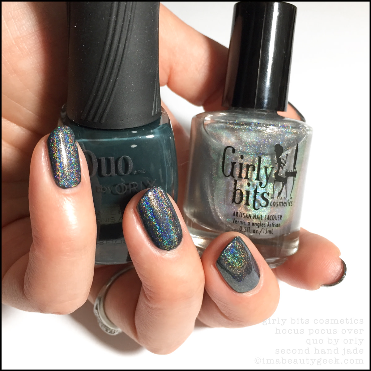 Girly Bits Hocus Pocus over Quo by Orly Second Hand Jade