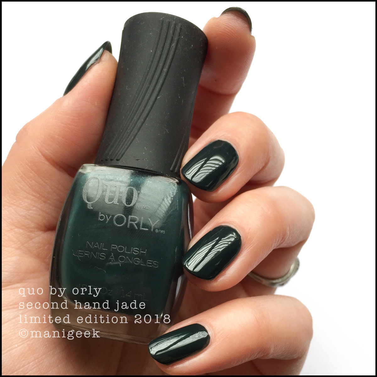 Quo by Orly Second Hand Jade - Orly Darlings of Defiance Collection Swatches