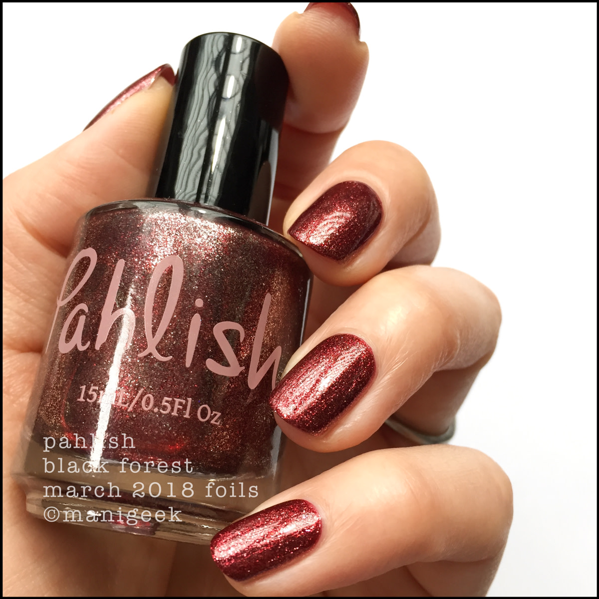 Pahlish Black Forest - March 2018 Collection Swatches