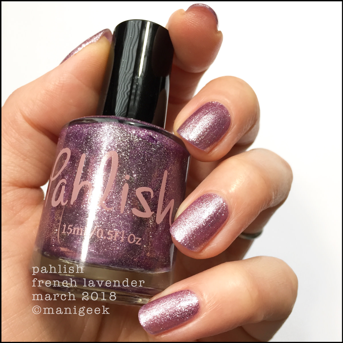 Pahlish French Lavender lamped - March 2018 Collection Swatches