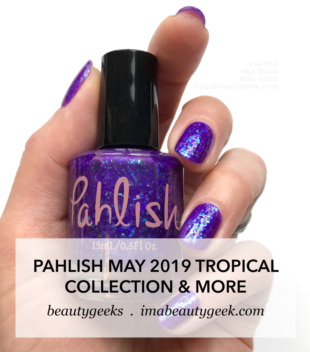Pahlish Tropical Collection Violet Duo Swatches May 2019