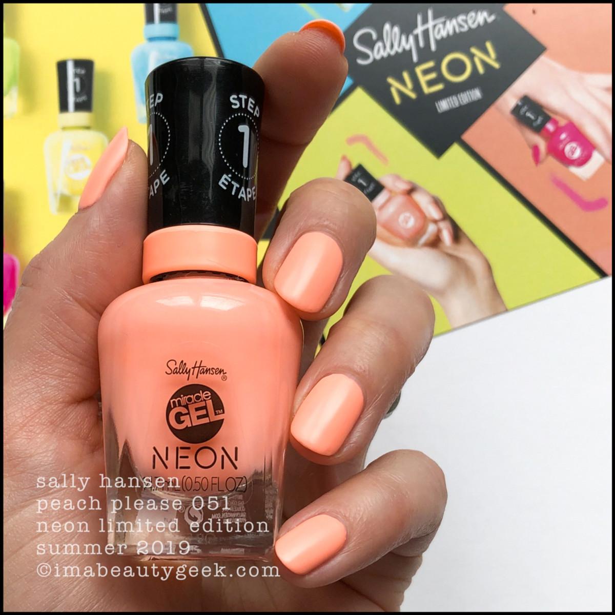 Sally Hansen Peach Please 051 - Sally Hansen Neon Collection Summer 2019