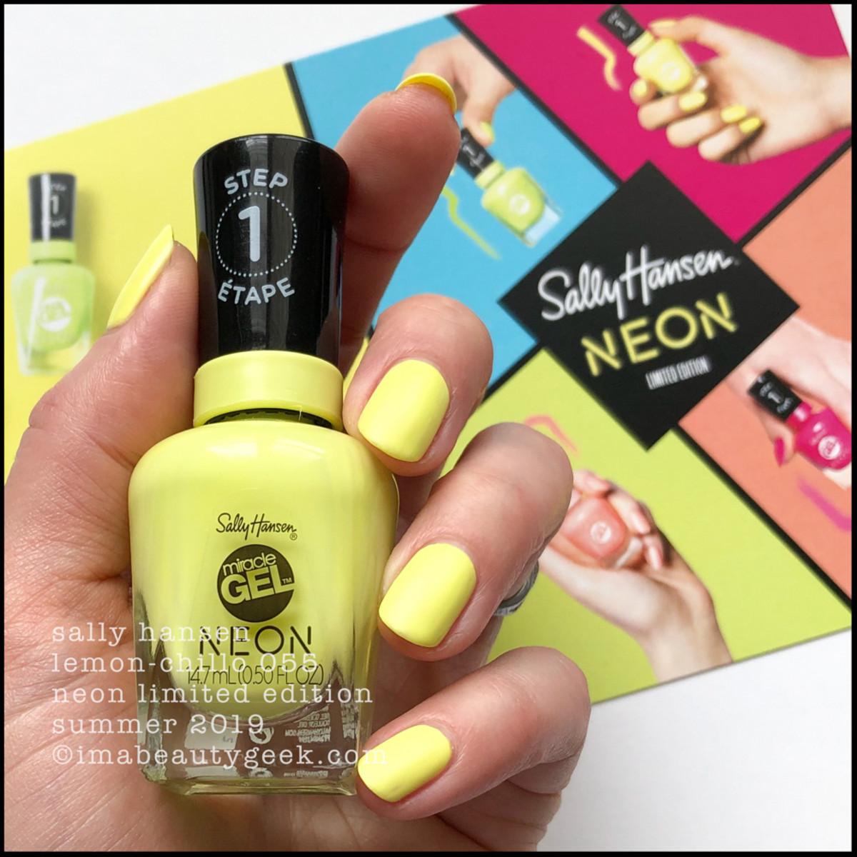 Sally Hansen Lemon Chillo 055 - Sally Hansen Neon Collection Summer 2019