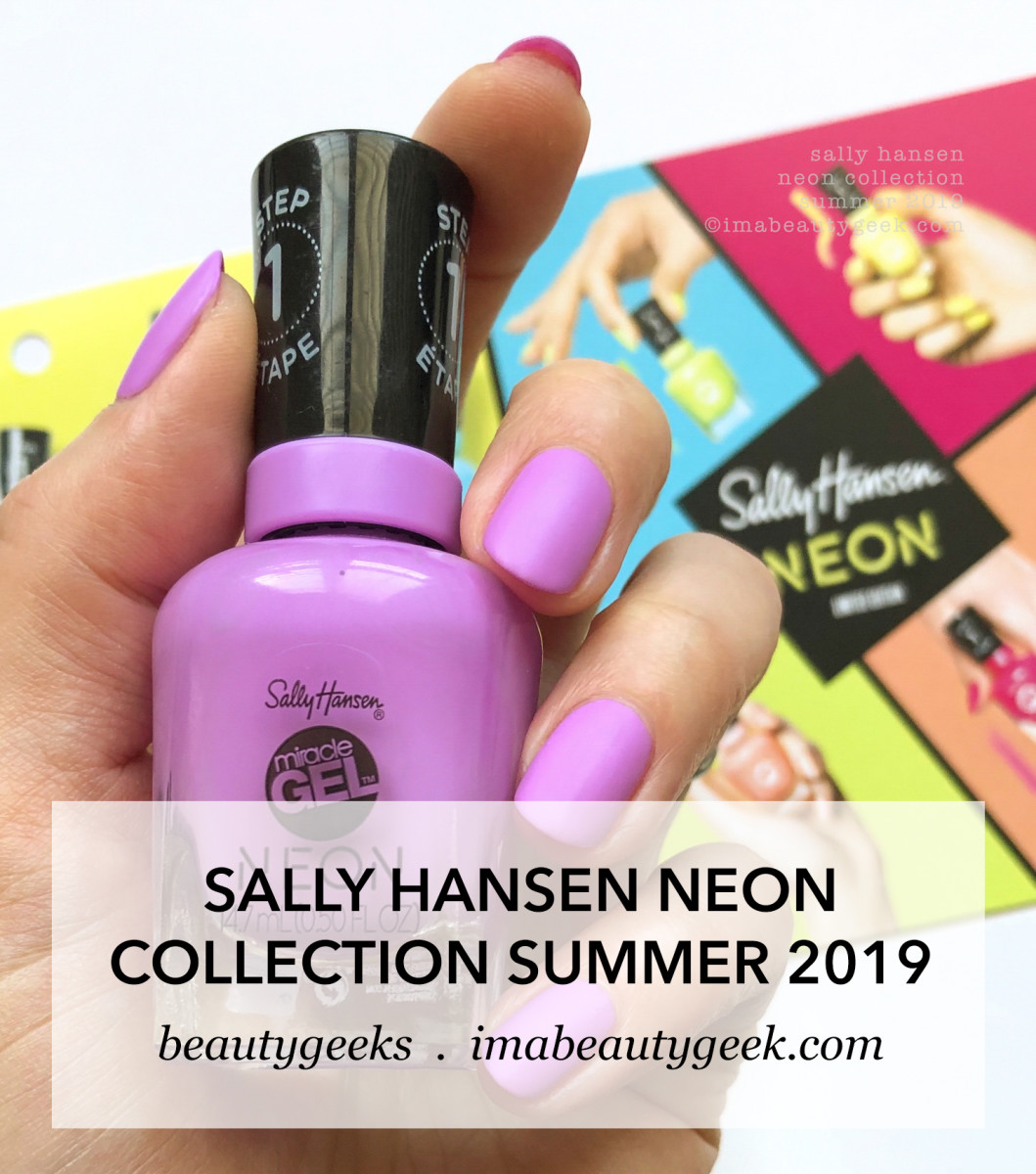 Sally Hansen Neon Collection Swatches Summer 2019
