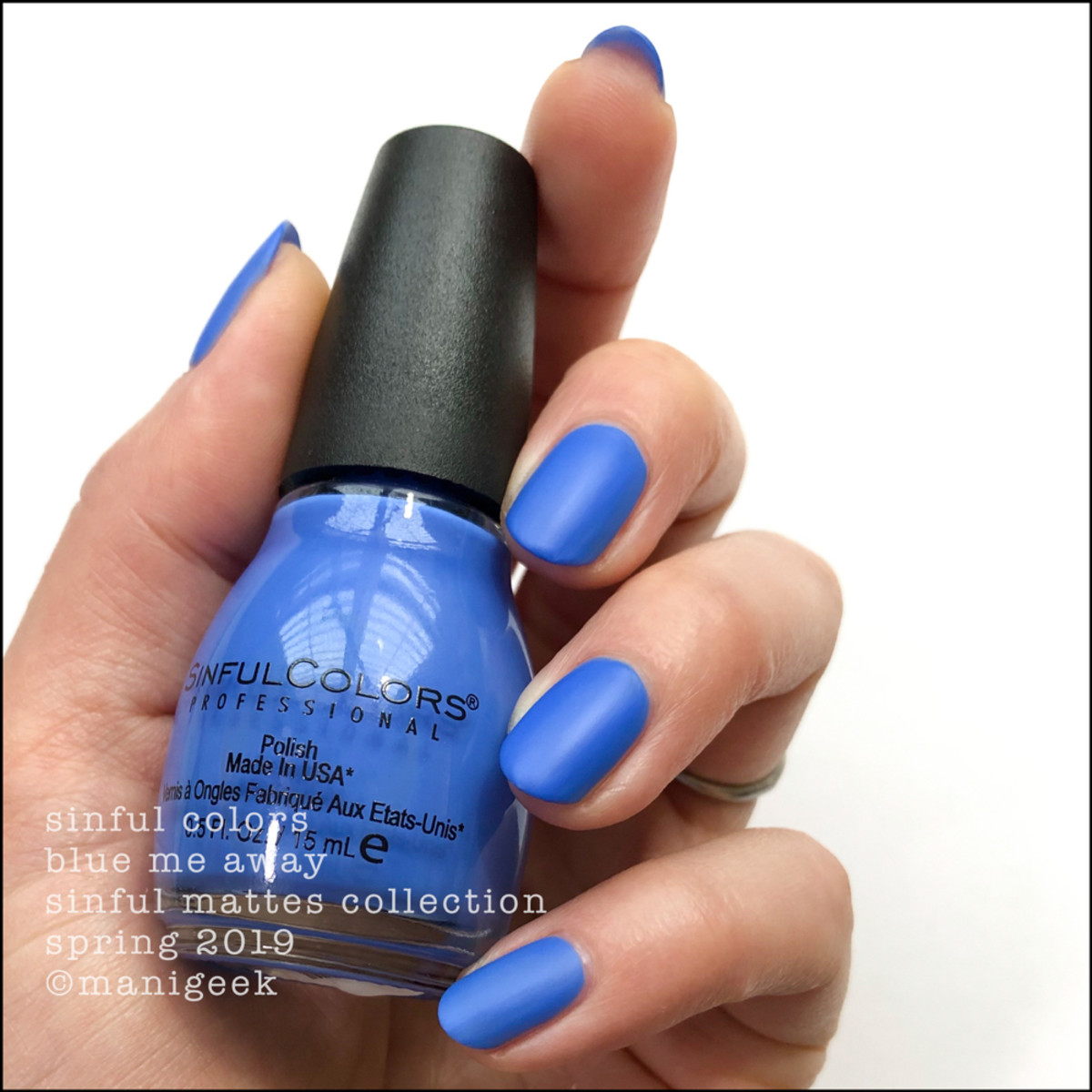 Sinful Colors Blue Me Away _ Sinful Colors Swatches Matte Collection 2019