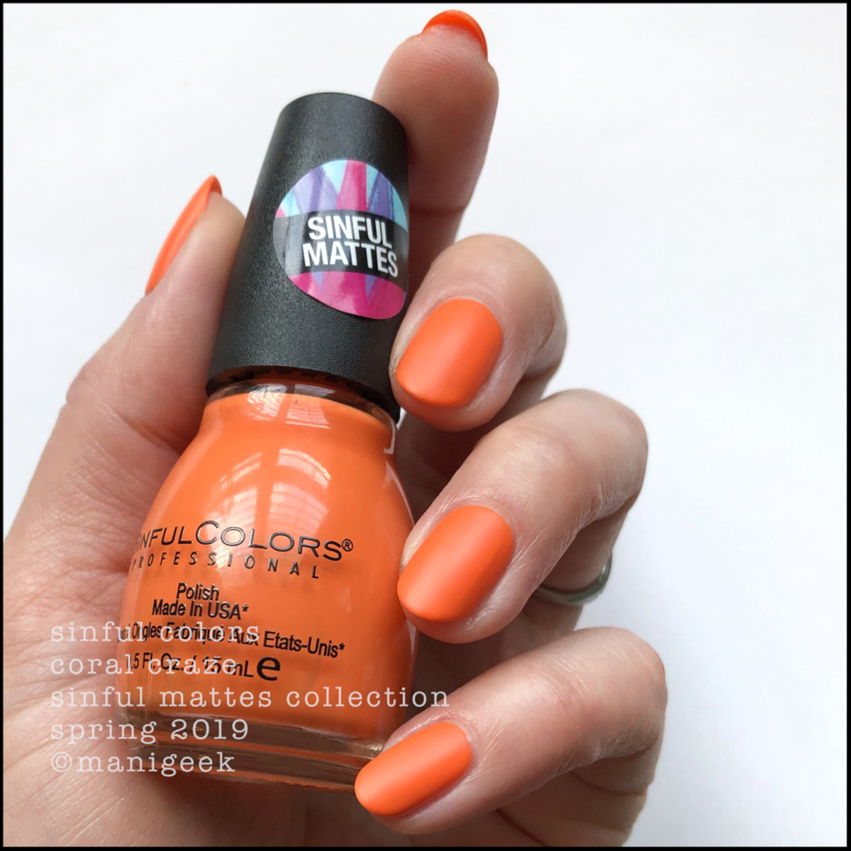 Sinful Colors Coral Craze _ Sinful Colors Swatches Matte Collection 2019