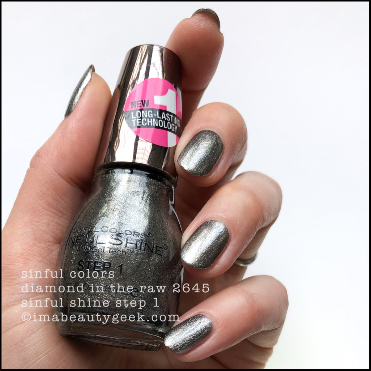 Sinful Colors Diamond in the Raw - Sinful Colors Swatches Sinful Shine 2019
