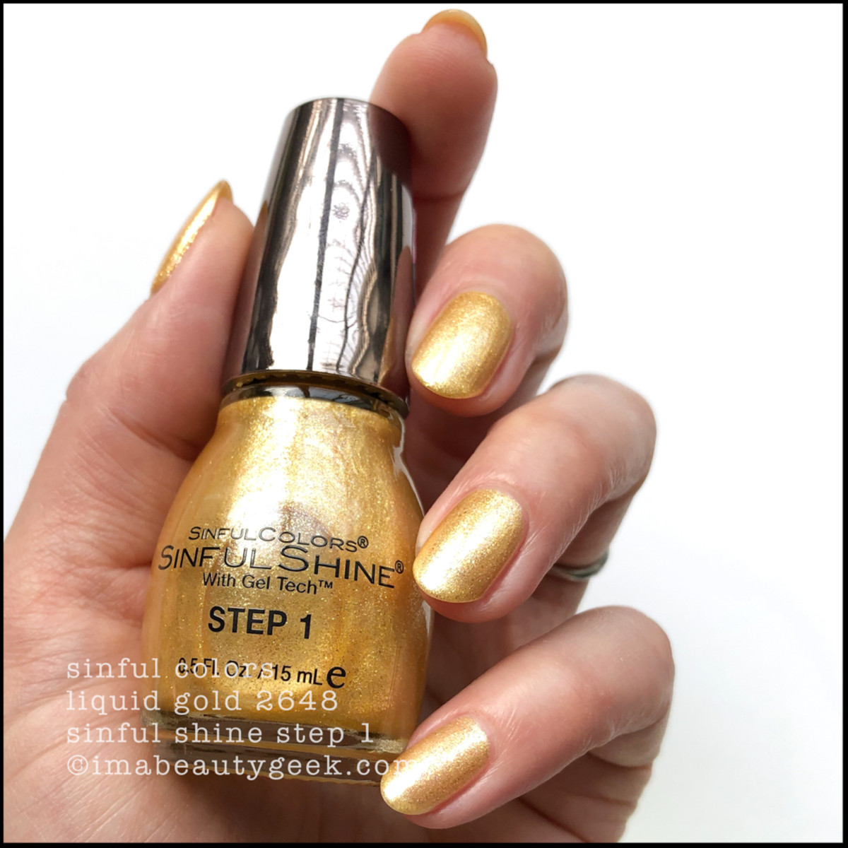 Sinful Colors Liquid Gold - Sinful Colors Swatches Sinful Shine 2019
