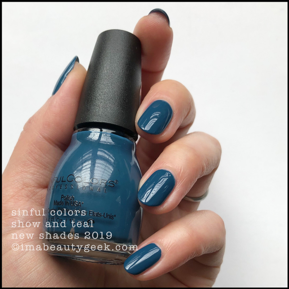 Sinful Colors Show and Teal - Sinful Colors Swatches 2019