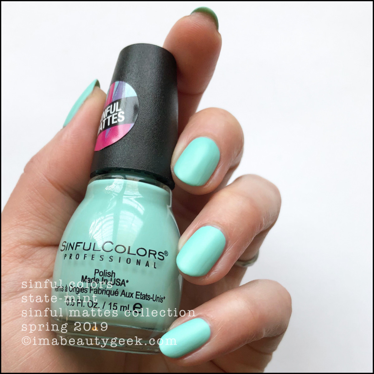Sinful Colors State-mint _ Sinful Colors Swatches Matte Collection 2019