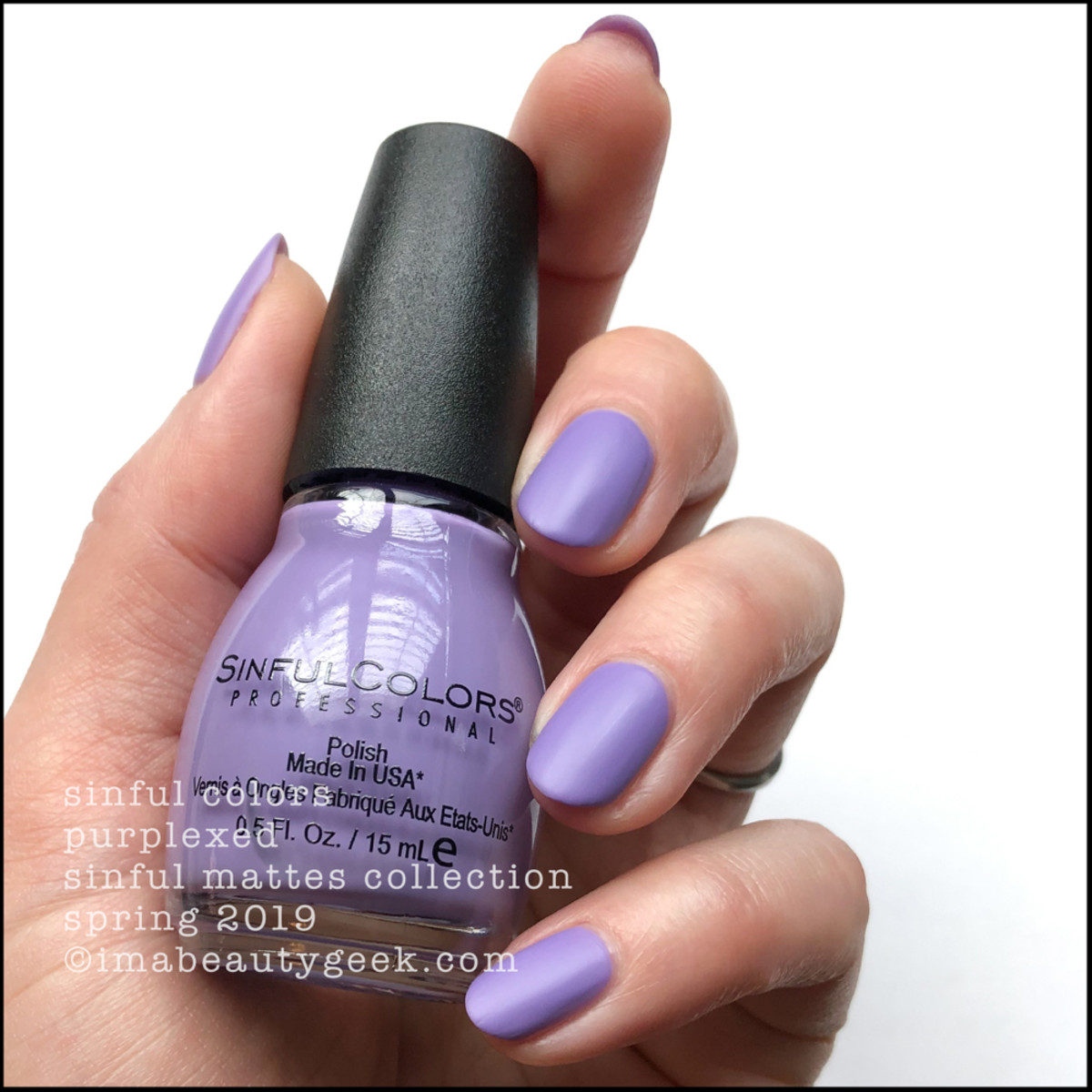 Sinful Colors Purplexed _ Sinful Colors Swatches Matte Collection 2019