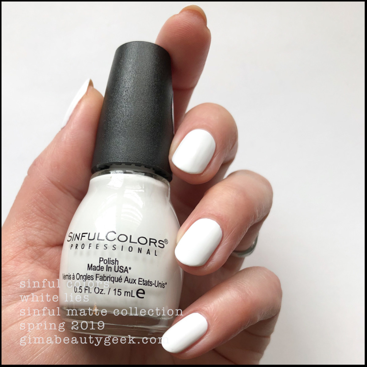 Sinful Colors White Lies _ Sinful Colors Swatches Matte Collection 2019
