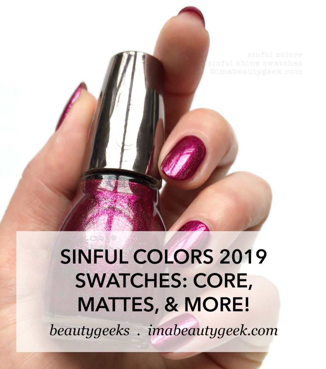 Sinful Colors Sinful Shine Swatches