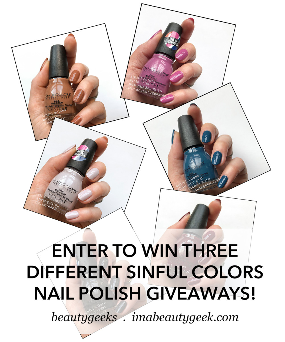Sinful Colors new shades giveaway BEAUTYGEEKS
