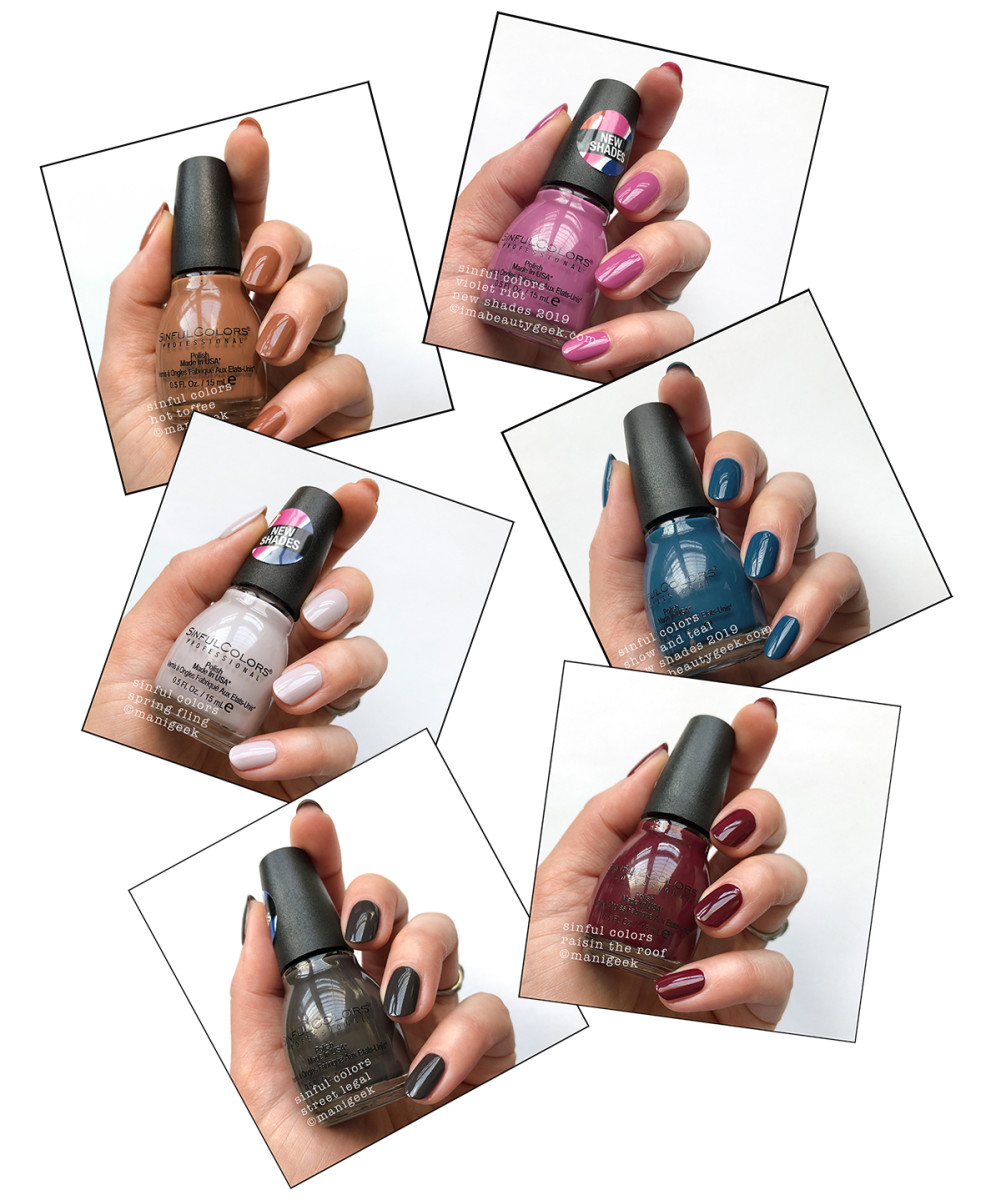 Enter to win: 6 new Sinful Colors nail polish shades Hot Toffee, Violet Riot, Spring Fling, Show and Teal, Street Legal and Raisin the Roof