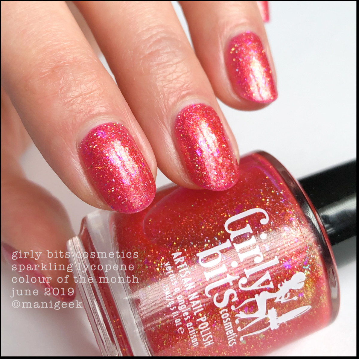 Girly Bits Cosmetics Sparkling Lycopene - Colour of the Month June 2019