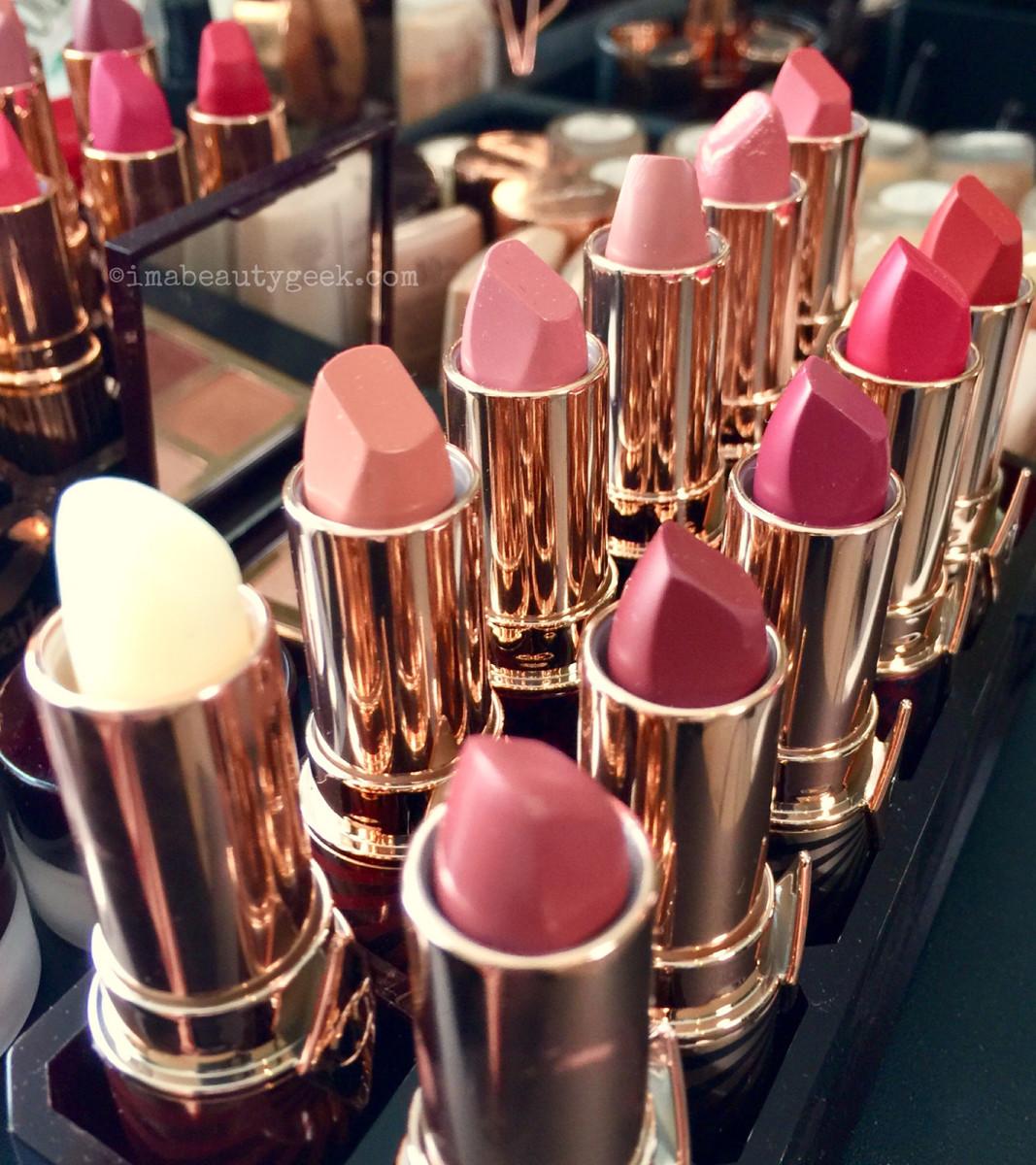 Charlotte Tilbury Hot Lips 2 all eleven shades