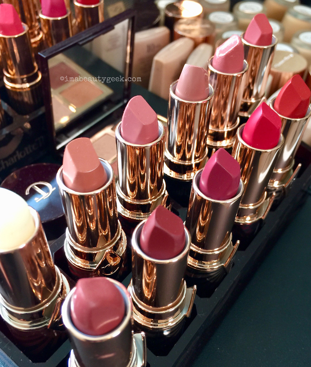 Charlotte Tilbury Hot Lips 2 lipstick collection at a recent preview