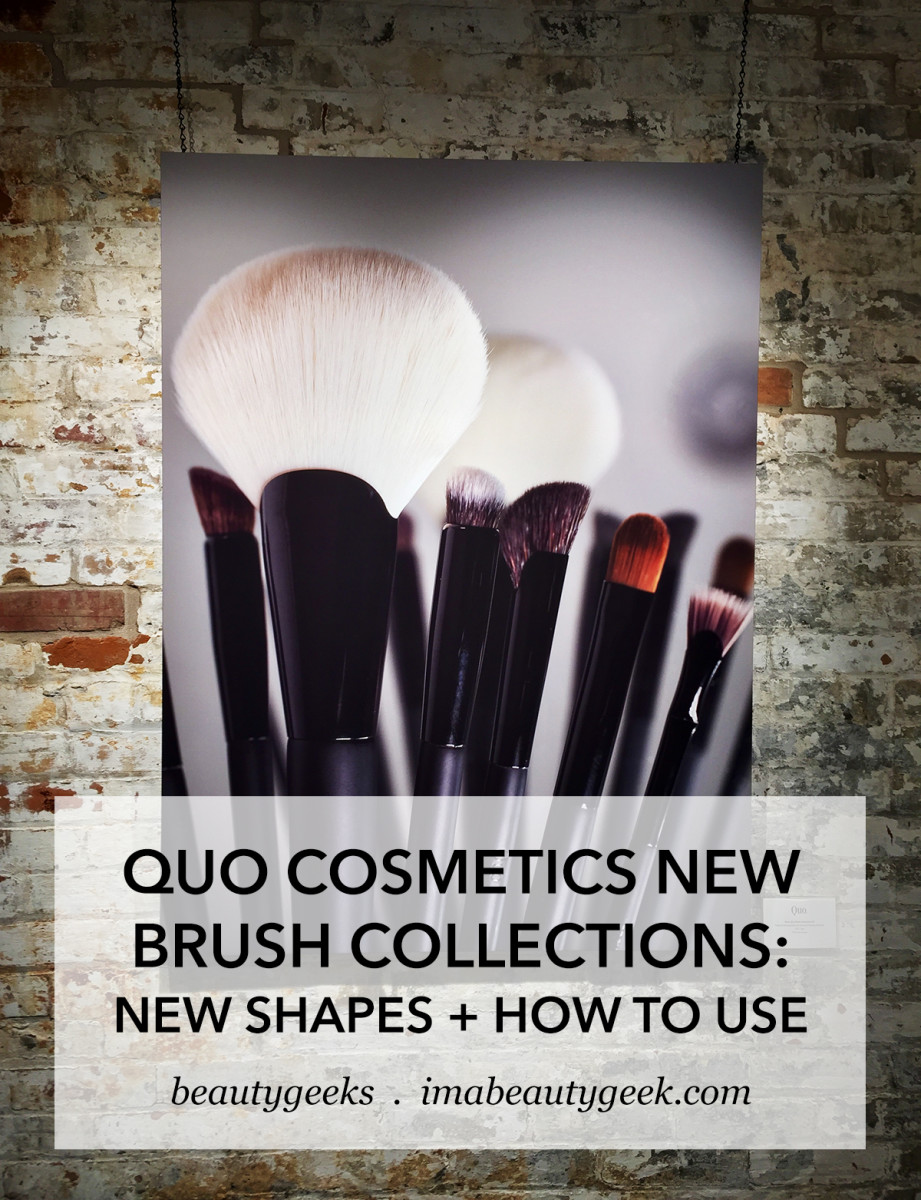 QUO Cosmetics New Brush Collections how to use