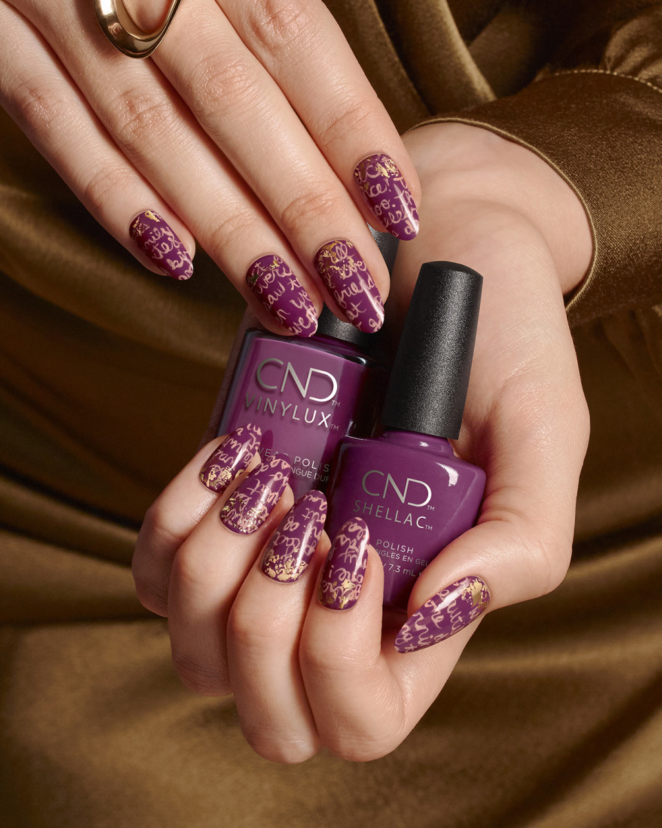 CND Vinylux and Shellac in Secret Diary from the Fall 2019 Treasured Moments collection