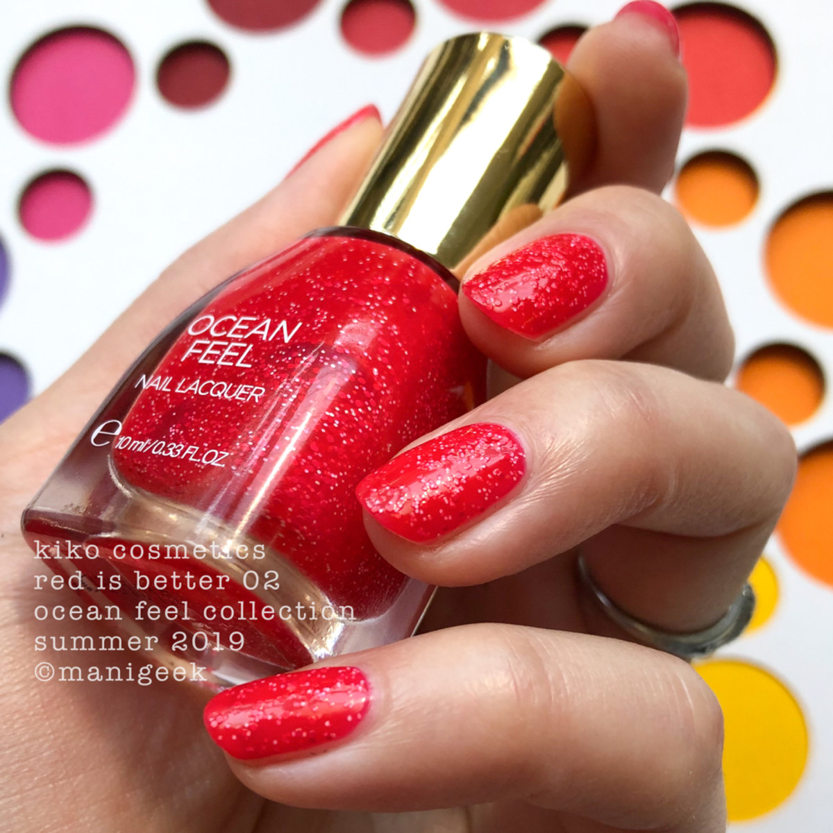 Kiko Red is Better 02 no top - Ocean Feel Nail Lacquer 2019