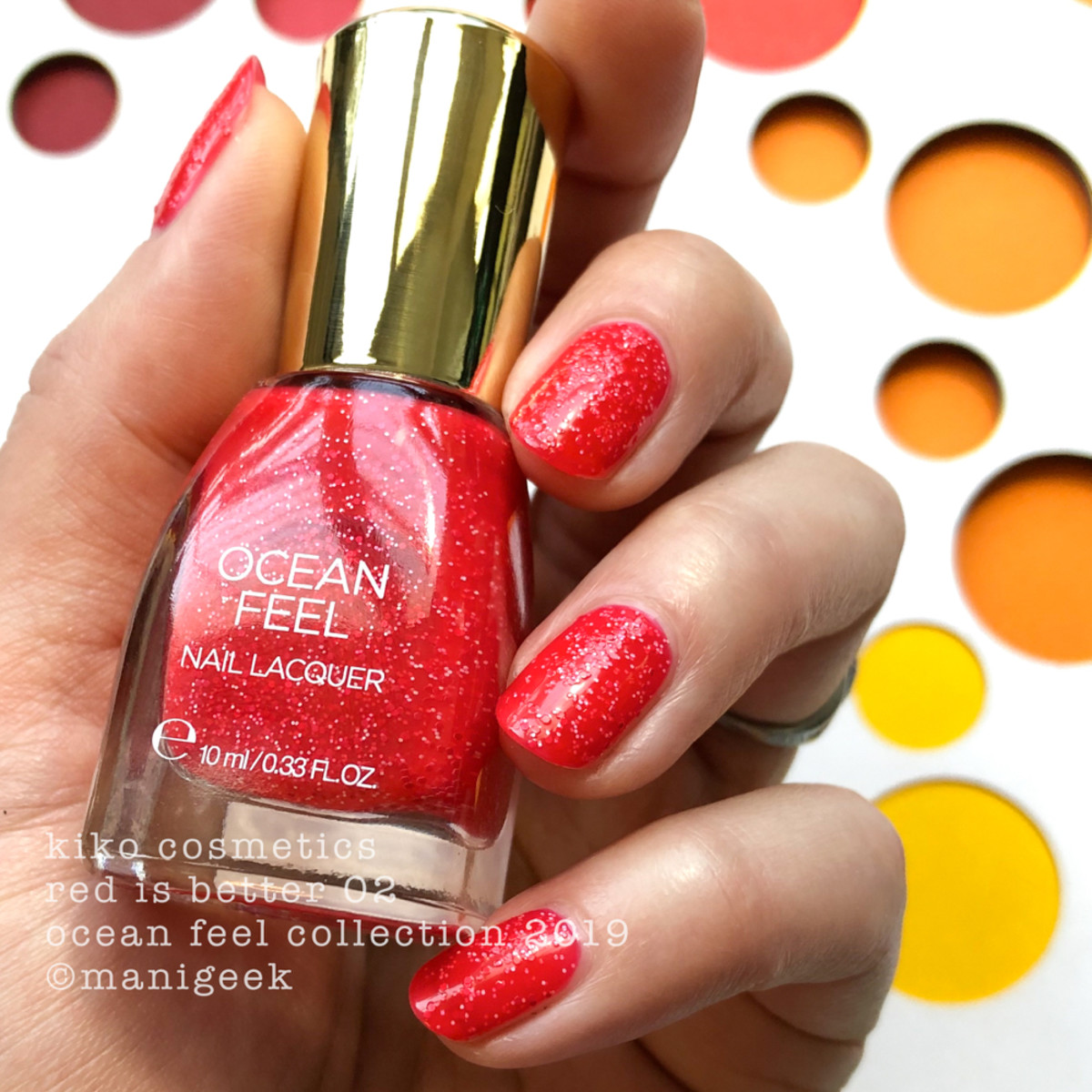 Kiko Cosmetics Red is Better 02 - Ocean Feel Nail Lacquer 2019