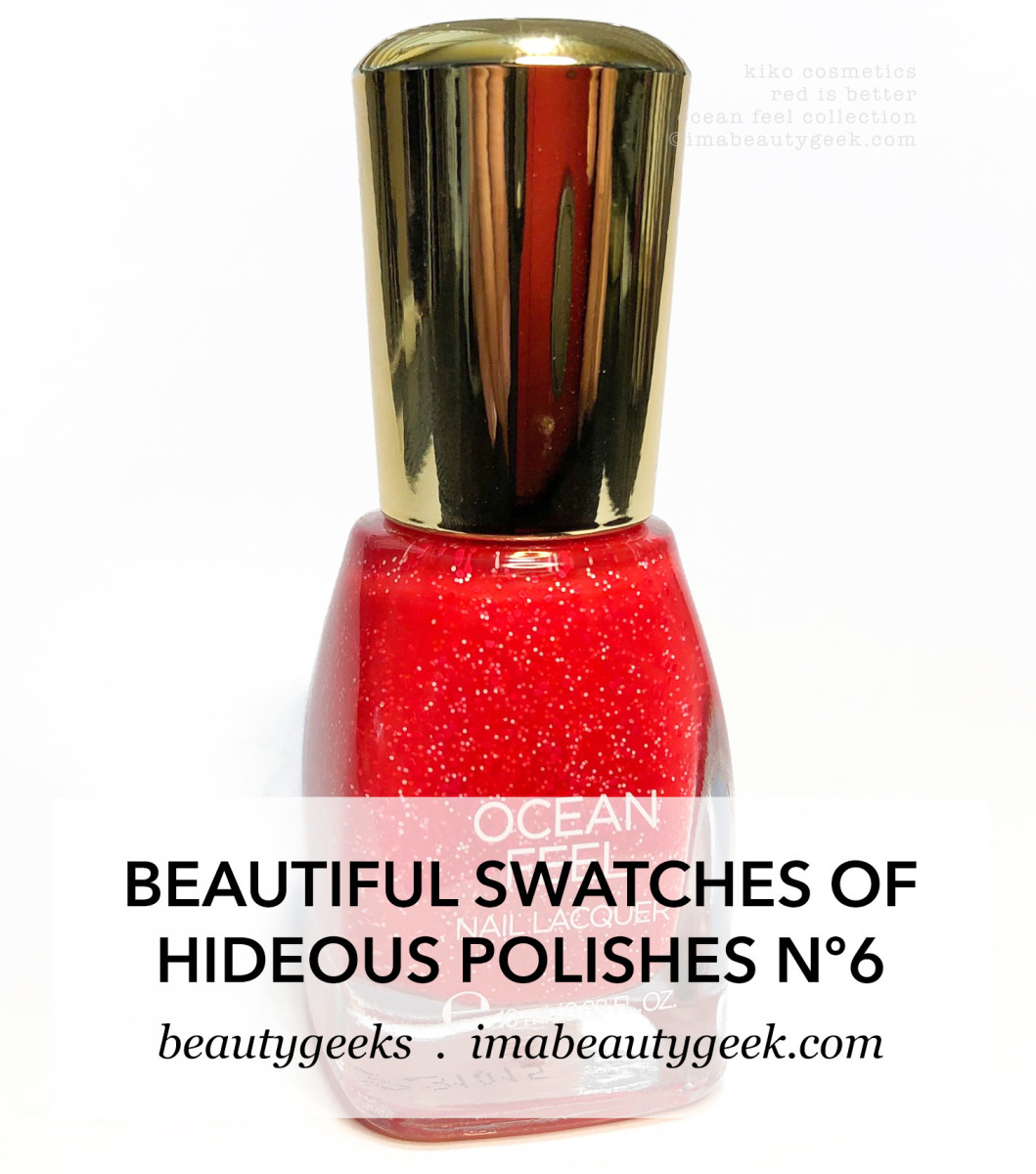 Kiko Cosmetics Ocean Feel Nail Lacquer Red is Better_H1