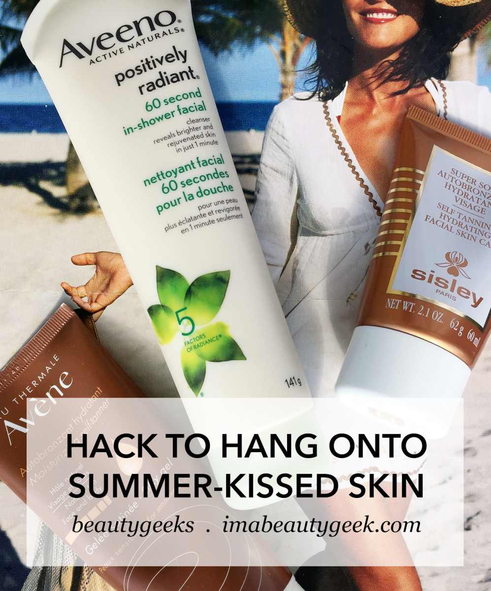 how to hang onto summer glow