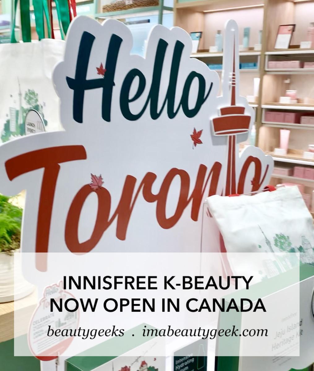 INNISFREE K-beauty now open in Canada