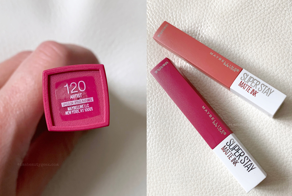 Maybelline Superstay Matte Ink in Artist... and in Self-Starter