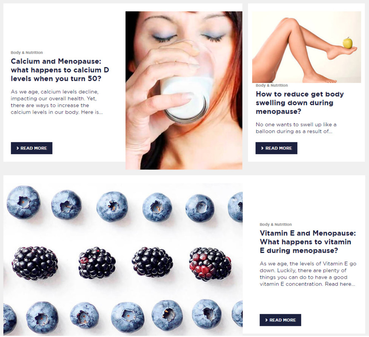 Vichy's No Pause at Menopause microsite features actually helpful advice written by experts