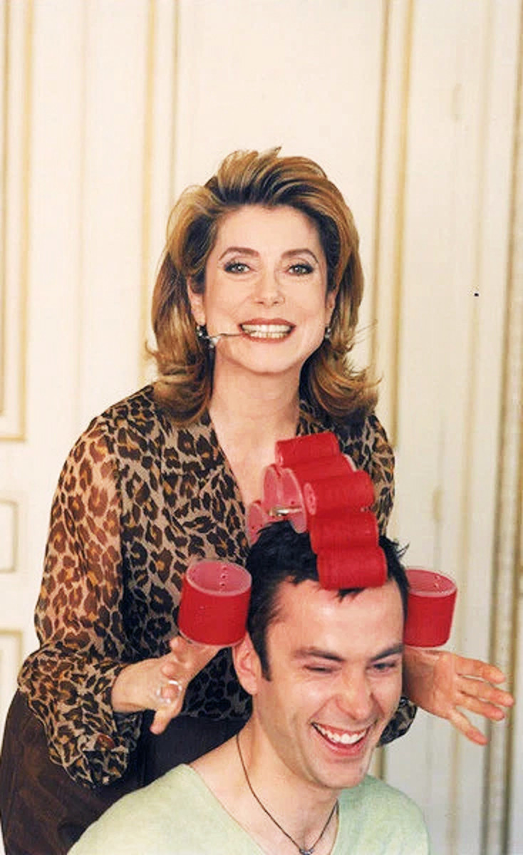 Catherine Deneuve has been Christophe's client for decades