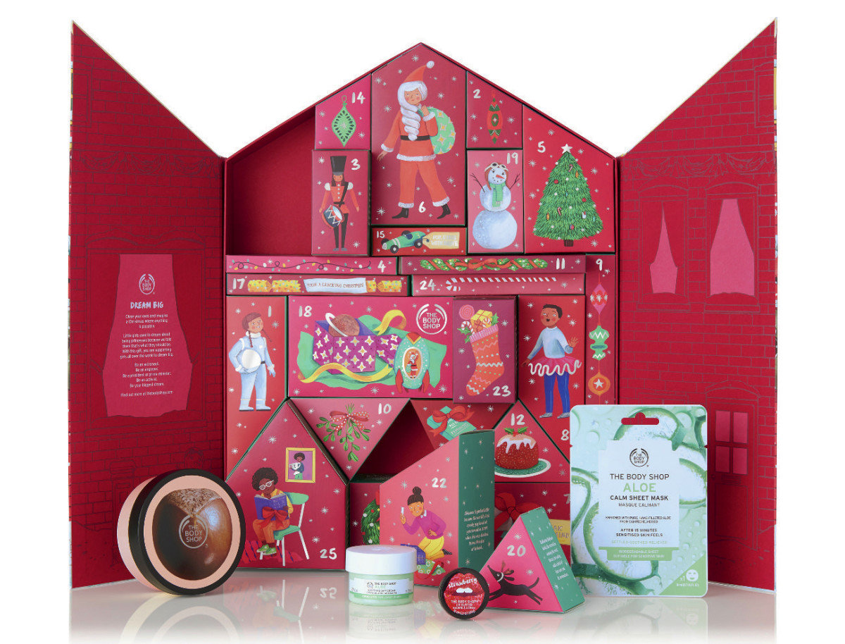 The Body Shop 2019 Deluxe Beauty Advent Calendar, $99 (value, $201)