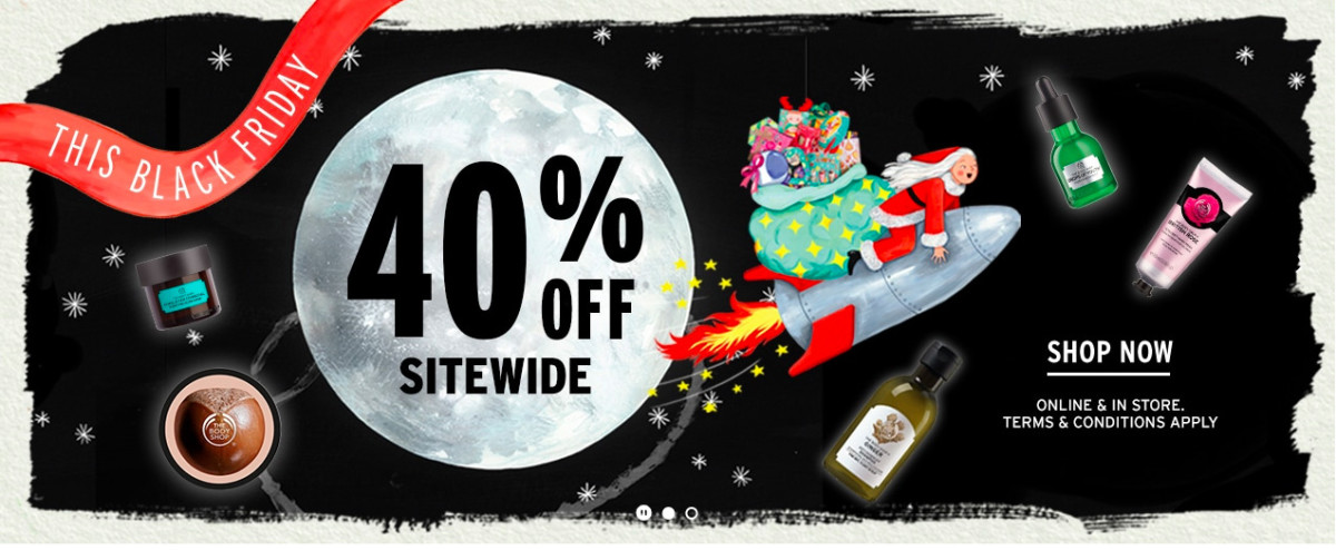 The Body Shop and The Body Shop Canada – no advent calendars, but there's a Black Friday tote...