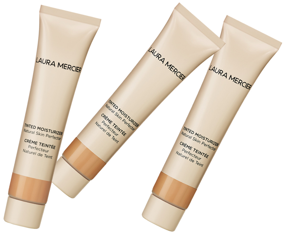 Laura Mercier Tinted Moisturizer Natural Skin Perfector comes in travel-sized Nude and Sand