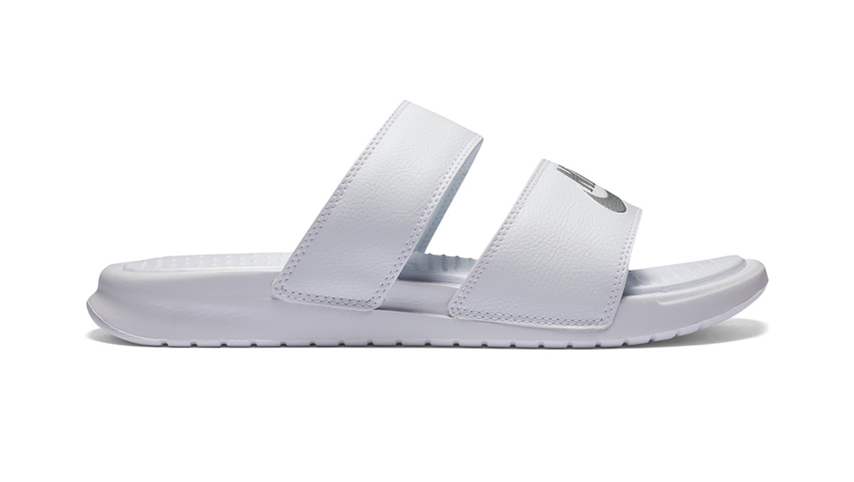 Nike Benassi Duo Ultra Slide Women's Sandal in White; also comes in Black of course