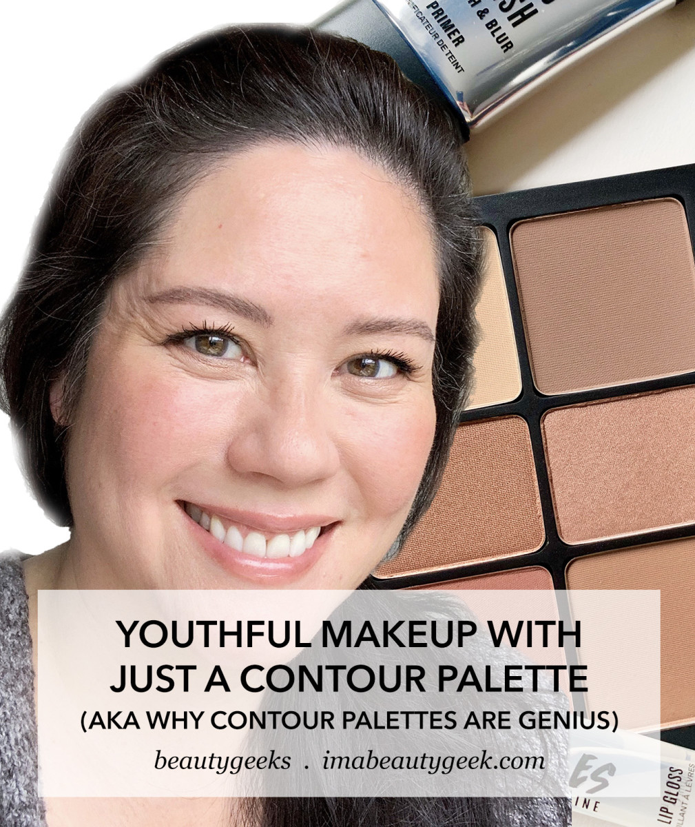 Youthful Makeup Look with just a Contour Palette