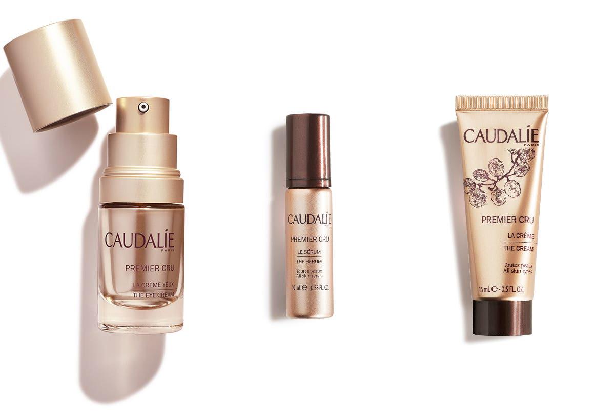 Caudalie Premier Cru The Eye Cream, The Serum and The Cream